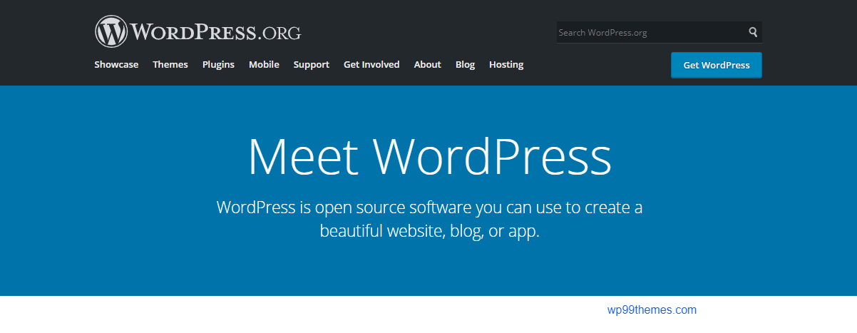WordPress.org with free host plus by wp99themes.com